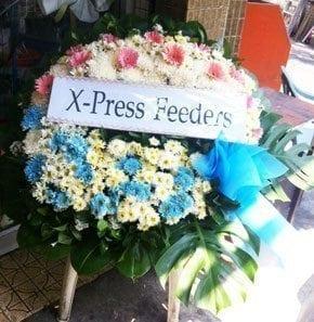 ร้านพวงหรีดวัดมกุฎกษัตริยาราม พวงหรีดจากX-Press Feeders