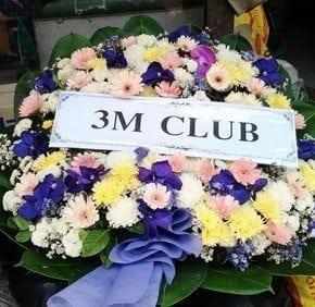 ร้านพวงหรีดวัดผาสุกมณีจักร ปากเกร็ด นนทบุรี พวงหรีดจาก 3M CLUB