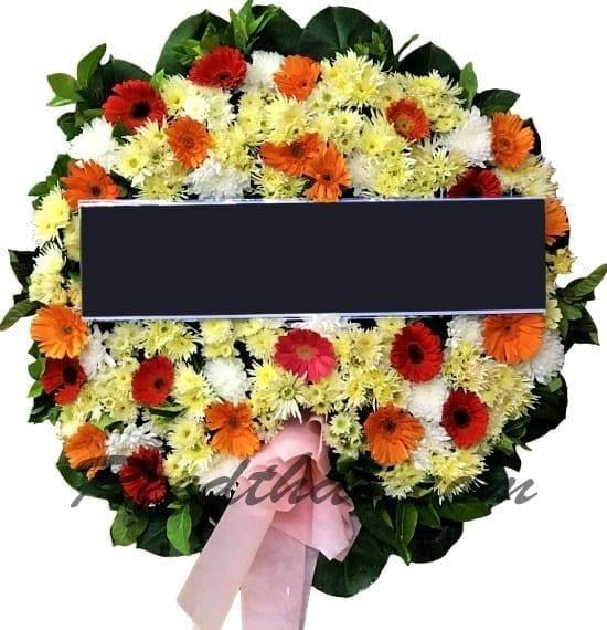 พวงหรีดดอกไม้สด A02 พวงหรีด