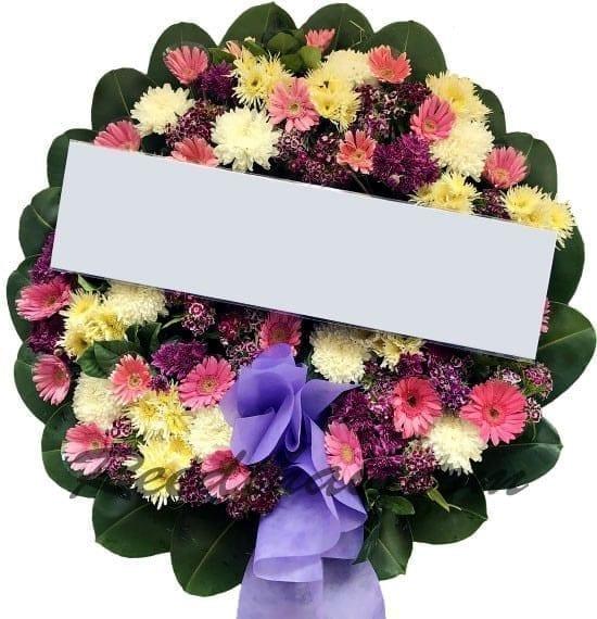 พวงหรีดดอกไม้สด A03 พวงหรีด