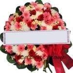 พวงหรีดดอกไม้สด A04 พวงหรีด