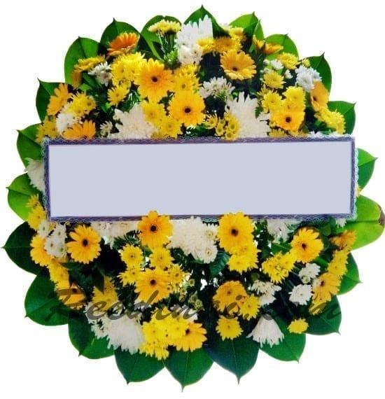 พวงหรีดดอกไม้สด A06 พวงหรีด