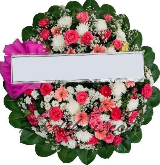 พวงหรีดดอกไม้สด B06 พวงหรีด