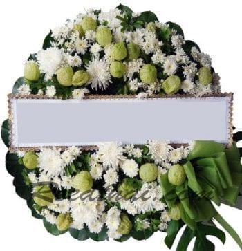 พวงหรีดดอกไม้สด-C06-พวงหรีด
