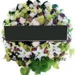 พวงหรีดดอกไม้สด-D02-พวงหรีด
