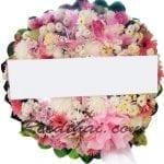 พวงหรีดดอกไม้สด-D04-พวงหรีด