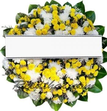พวงหรีดดอกไม้สด-D07-พวงหรีด