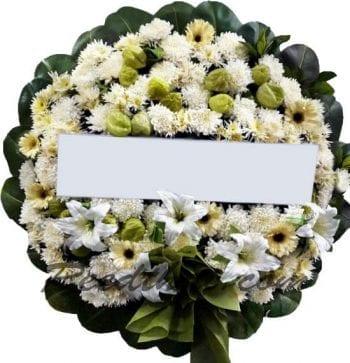 พวงหรีดดอกไม้สด-D11-พวงหรีด