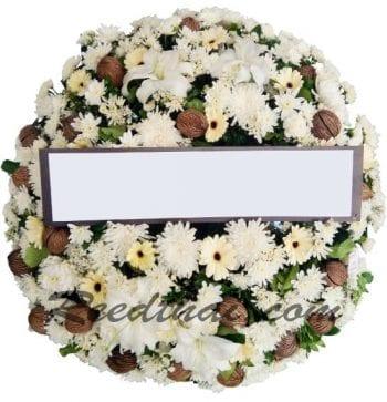 พวงหรีดดอกไม้สด-E05-พวงหรีด