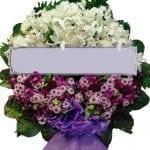 พวงหรีดดอกไม้สด-F04-พวงหรีด