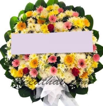 พวงหรีดดอกไม้สด A07 พวงหรีด