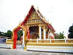 โบสถ์วัดโพสพผลเจริญ โดยร้านพวงหรีด Reedthai