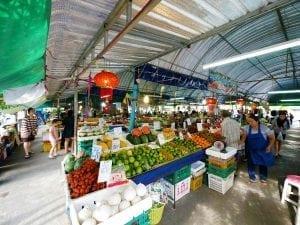 รูปตลาดหน้่าวัดยายร่ม โดยร้านพวงหรีด Reedthai