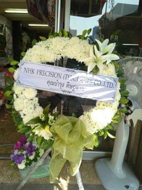 ร้านพวงหรีดวัดพลมานีย์ จากNHK PRESICION (THAILAND)