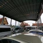 รูปที่จอดรถภายในวัดมหาวงษ์ โดยร้านพวงหรีดวัดมหาวงษ์ หรีดไทย Reedthai