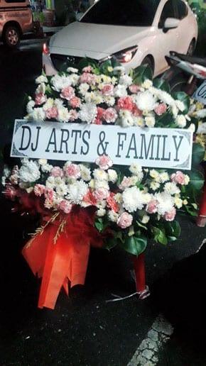 ร้านพวงหรีดวัดเกาะแก้วนครสวรรค์ พนัสนิคม ชลบุรี พวงหรีดจาก Dj Arts & Family