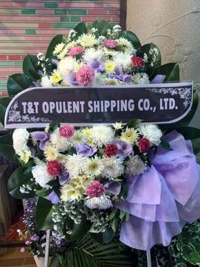 ร้านพวงหรีดวัดแดง ท่าเรือ อยุธยา พวงหรีดจาก T&t Opulent Shipping