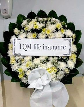 ร้านพวงหรีดวัดโสมนัส พวงหรีดจากtqm Life Insurance