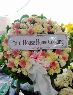 ร้านพวงหรีดวัดลาดพร้าว พวงหรีดจากyard House Home Cooking