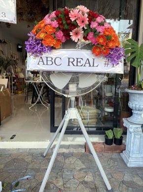 ร้านพวงหรีดวัดเทพนิมิตร ฉะเชิงเทรา พวงหรีดจาก Abc Real 1