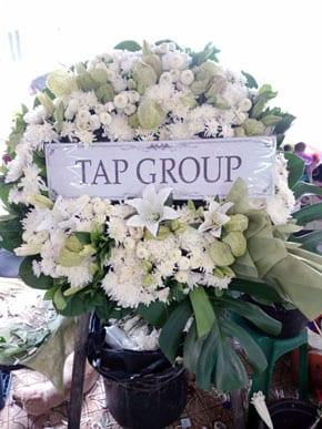 ร้านพวงหรีดวัดแสนสุข พวงหรีดจากtap Group
